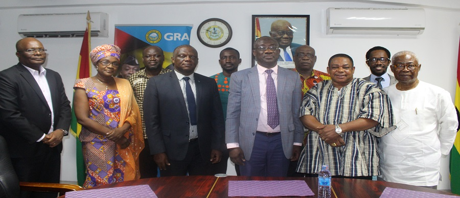 THE CHAMBER PAID A COURTESY CALL ON THE COMMISSIONER GENERAL OF GRA