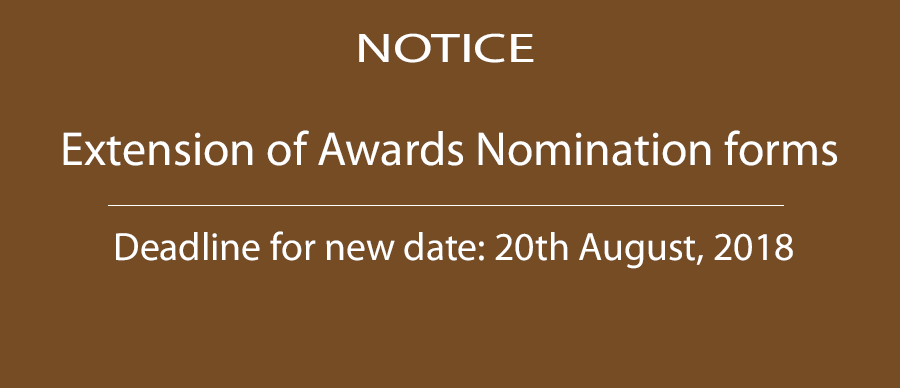 Extension of Awards Nomination Form