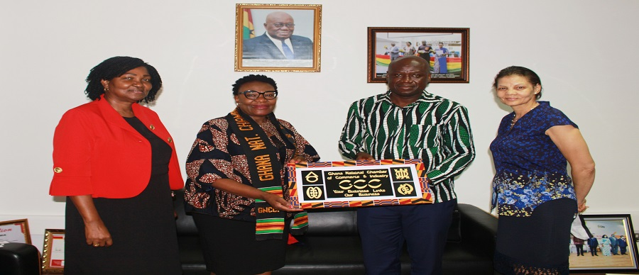 NAMIBIAN HIGH COMMISSIONER TO GHANA PAYS COURTESY CALL ON GNCCI EXECUTIVES